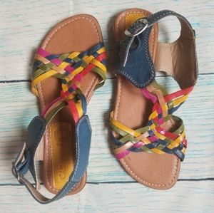 Caramba leather multicolor sandals size 7